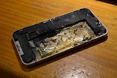 Burnt iPhone 4