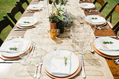 Copper And White Malibu Outdoor Wedding - Weddingomania Unique Wedding Colors, Unique Weddings, Barn Weddings, Wedding Color Combinations, Wedding Color Schemes, Waterfall Wedding, Outdoor Dinner Parties, My Perfect Wedding, Dream Wedding