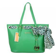 #MichaelKorsBags Love The Fashion, Love Life, Love Michael Kors Jet Set Scarf Large Green Totes!