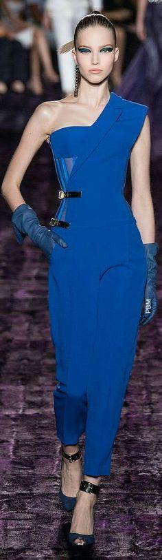 677c1a392d Versace Blue Jumpsuit Atelier Versace