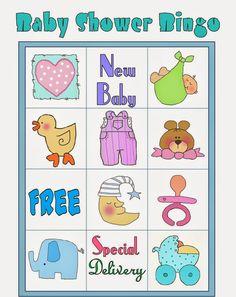 Bingo Baby Shower, Baby Shower Printables, Shower Party, Free Printables, Diy Baby Shower Decorations, Frozen Bebe, Baby Shawer, Blogger Templates, Amelia