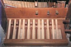 Le pédalier à l'italienne de l'orgue Concone