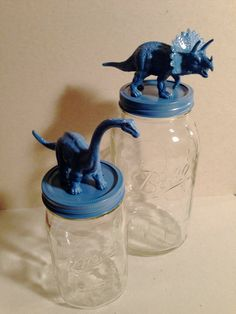 dinosaurs / animals / jars / canisters / storage by TheYellowSpoon, $32.00