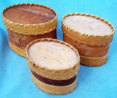 beautiful handmade birch bark baskets .