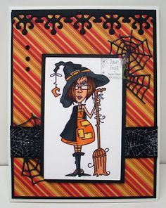 New Release - JJ Calendar Months - October Witch Bugaboo, Witch, Calendar, October, Challenge, Cards, Blog, Witches, Life Planner