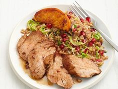 Citrus-Glazed Pork with Farro Recipe : Food Network Kitchen : Food Network Farro Recipes, Pork Recipes, Recipies, Healthy Cooking, Healthy Eating, Healthy Recipes, Healthy Foods, Yummy Recipes, Clean Eating