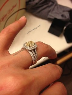 2.10CT Sapphire & CZ Split Shank Engagement Ring 925 Silver Wedding Bridal Set #br925silverczjewelry