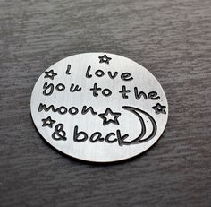 Window Plate for Floating Lockets-I Love You To The Moon And Back-Window Plates-Fits Origami Owl and Floating Lockets-Gift Idea