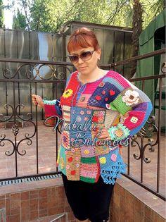 Túnica gitana Boho blusa del ganchillo por CrochetLaceClothing
