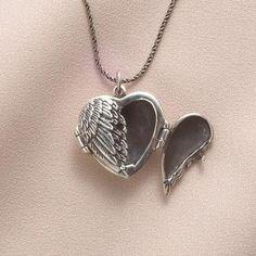 Winged Heart Locket - SkyMall