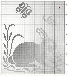 Зайцы салфетка крючком схема