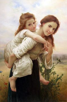"""Not too Much to Carry"" by William Bouguereau (<3 <3 <3 this)"