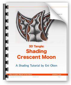 3D Tangle: Shading Crescent Moon Ebook