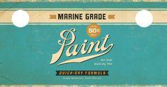 Modern/vintage paint packaging, 2/3.