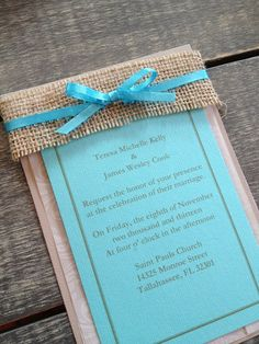 Rustic Burlap Wedding Invitations | Welcome Sponsor: Southern Charm Celebrations - Rustic Wedding Chic