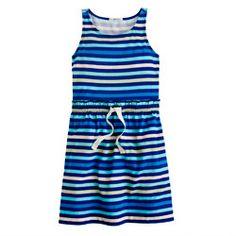 Girls' multistripe tank dress