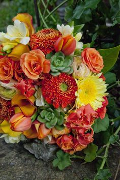 #Bouquet of succlents & flowers