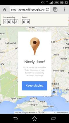 Smarty pins google map spil - geografi #androidedu