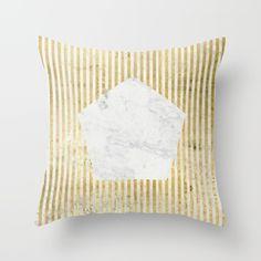 Inverse penta gold Throw Pillow by Simona Sacchi   Society6