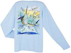 Guy Harvey Island Marlin Dri-Release Long Sleeve Tee