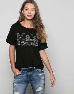 Camiseta textos estampados