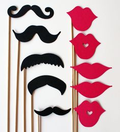 Mustache and Lips On a Stick
