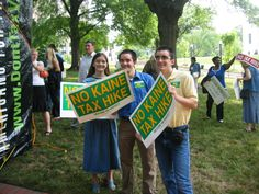 With my siblings opposing Tim Kaine's tax hike for transportation at AFP Rally