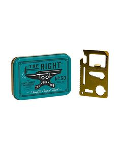 Sure, he seems like the guy who can do it all—but with this tool, he really can help you with just about anything. This pocket-sized metal card has 11 utilitarian tools, including a bottle opener, a wrench, a ruler, and even a saw.