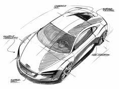 Audi e tron Concept Design Sketch