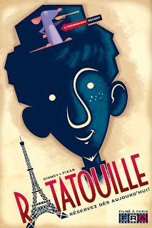 Ratatouille movie poster by Disney artist Eric Tan. (This might be my favorite.)