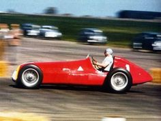 Juan Manuel Fangio driving his Alfa Romeo won the 1950 French Grand Prix held at Reims-Gueux over 64 laps of a 7.8 km. circuit.