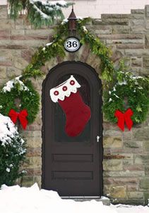 Front Door Stocking Free Easy Home Decor Crochet Pattern. Crochet this front door stocking to spread the Christmas spirit in your neighboorhood. Who knows, maybe Santa will leave you something inside! Pattern More Patterns Like This! Knitting Patterns Free, Free Pattern, Crochet Patterns, Free Knitting, Crochet Ideas, Baby Christmas Stocking, Christmas Stockings, Christmas Ornament, Holiday Crochet