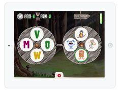 """Mit """"Monster ABC"""" lernen Kinder spielerisch Anlaute, Buchstaben und Wörter. Die Lern App funktioniert so: es gibt zwei Räder, die man so drehen muss, dass der Anlaut auf dem einen Rad zum Bildchen auf dem anderen passt. Wenn das linke Rad also beim """"H"""" eingerastet ist, muss das andere Rad solange gedreht werden, bis es beim Hasen eingerastet."""