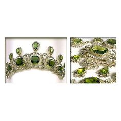 If anyone's interested in this Kochert Peridot Parure, there's now a new board started dedicated to it. https://www.pinterest.com/d7fc7c0c/tiaras-unlimited-the-peridot-parure/