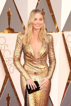 Margot Robbie at Oscars 2016   POPSUGAR Celebrity