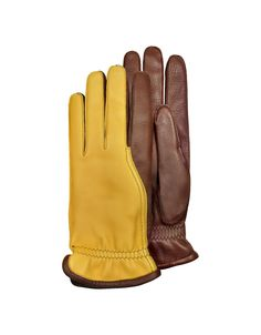 Pineider - Men's Two-Tone Deerskin Leather Gloves w/ Cashmere Lining €210