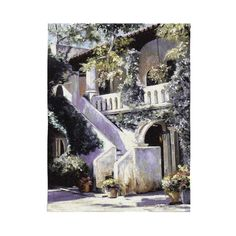 "Fine Art Tapestries Decorative Balcony De La Flora Hanging Wall Tapestry 40""""W x 52""""H"