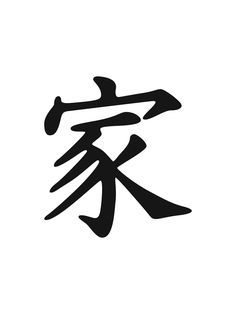 Chinese symbol for family. Gonna get this tattoo. Don't know where to put it though.