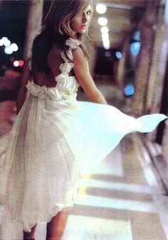 girls in white dresses.