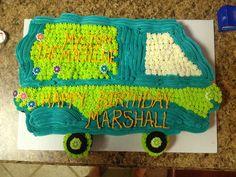 Scooby Doo Mystery Machine Cupcake Cake