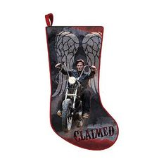 The Walking Dead Daryl Dixon Motorcycle Christmas Stocking - Holiday Decor at Entertainment Earth