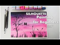 BEGINNERS Silhouette Painting Technique ♡ Basic Easy Step by Step ♡ Mare...
