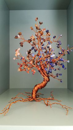 bonsai tree feng shui gemstone tree handmade home decor