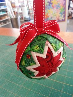Folded Fabric Christmas Ornament