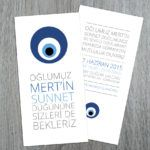 Typography Evil Eye Bead Sunnet invitation