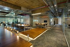 Bakırküre Architects & Bigg Working Culture Solutions, Inteltek Headquarters, Meeting Rooms, situated in the Uniq Plaza at Maslak, Istanbul