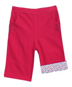 Love this Rhubarb Twill Clamdiggers - Infant, Toddler & Girls on #zulily! #zulilyfinds