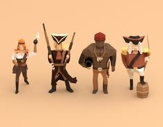 Low poly pirates!