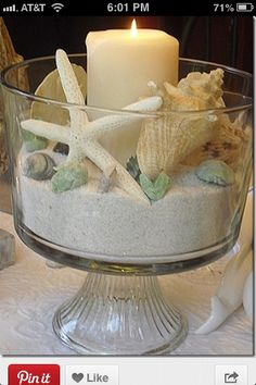 Love this centerpiece for a beach party!
