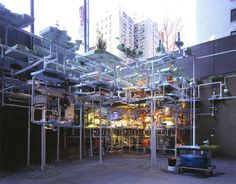 Sarah Sze, Triple Point of Water, 2003, Whitney Museum of American Art, New York